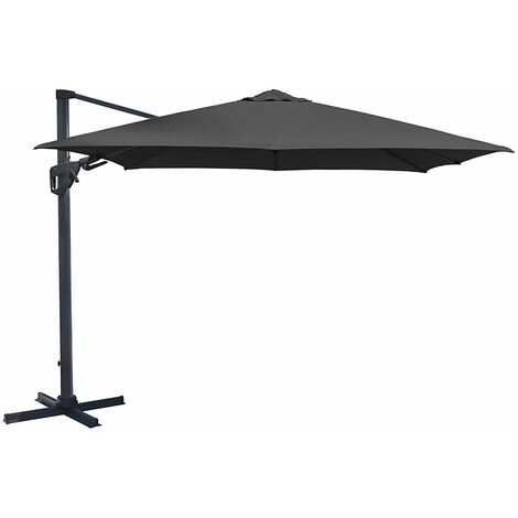 Charles Bentley 3.5M Premium Quality Cantilever Umbrella Parasol Grey