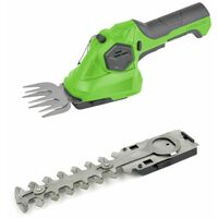 Charles Bentley 3.6V Cordless 2-in-1 Grass Cutter And Hedge Trimmer - Green