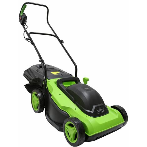 """main image of """"Charles Bentley 38cm 1800W Electric Wheeled Lawnmower 50L Collection Bag - Green"""""""