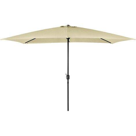 Charles Bentley 3m x 2m Rectangular Garden Umbrella Beige Or Light Grey