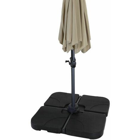 Charles Bentley 4 Piece Plastic Parasol Base - Black