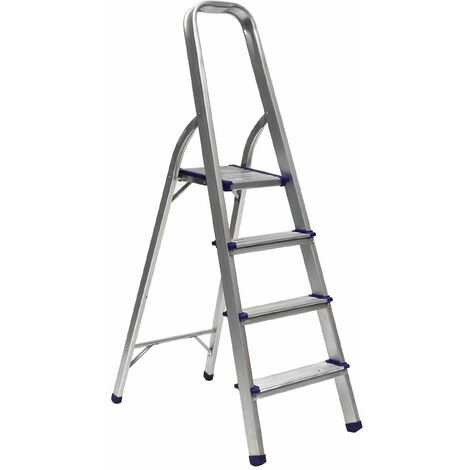 Charles Bentley 4 Step Tread Aluminium Lightweight Foldable Step Ladder