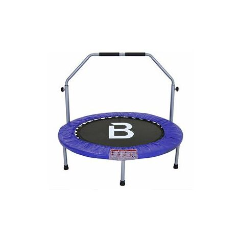 "Charles Bentley 40"" Fitness Exercise Mini Trampoline with Handle- Blue"