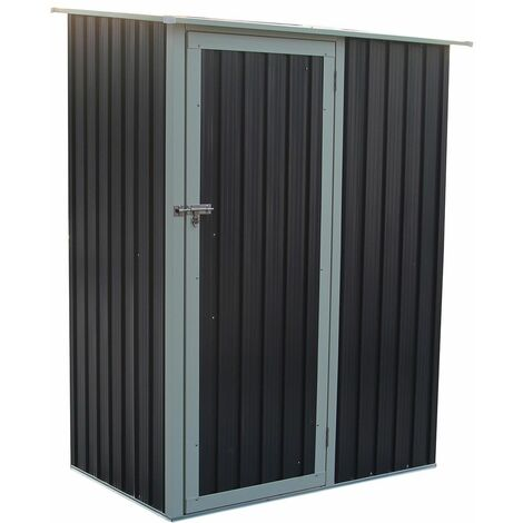 Charles Bentley 4.7ft x 3ft Metal Storage Shed Chest Small Roof Door Apex