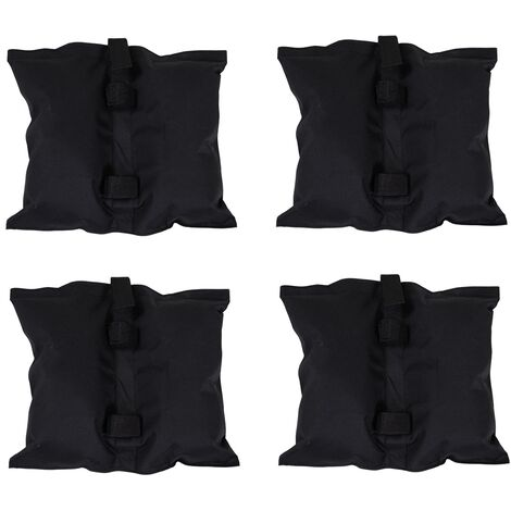 Charles Bentley 4pc Gazebo Leg Weight Bags Black 300D Polyester with PVC Coating - Gray