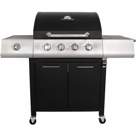 "main image of ""Charles Bentley 5 Burner Premium Gas BBQ (4 x Burner + 1 Side Burner)"""