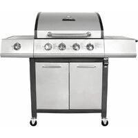 Charles Bentley 5 Burner Premium Gas BBQ (4 x Burner + 1 Side Burner) - Grey