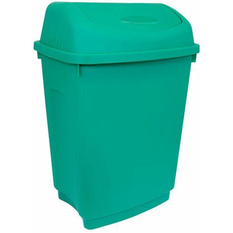 Charles Bentley 50 Litre Flip Top Rubbish Waste Kitchen Bin - Various Colours