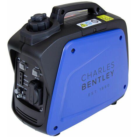 Charles Bentley 700W Portable Inverter Generator H395 x L209cm 4hr Operation