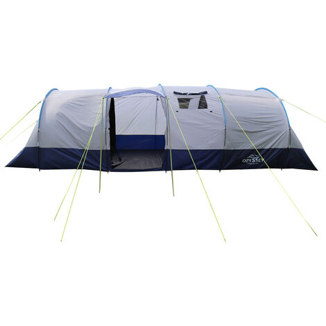 Charles Bentley 8 Person Family Camping Tunnel Tent Awning H220 x L690 x W240cm