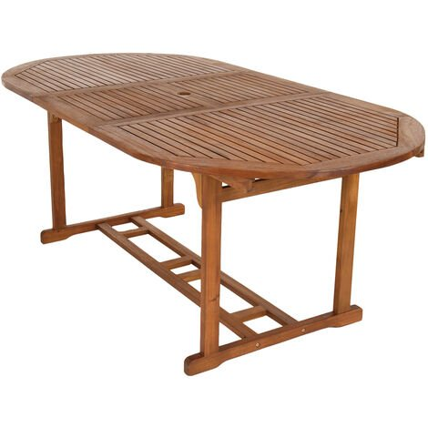 Charles Bentley Acacia Hardwood Oval Extendable Table