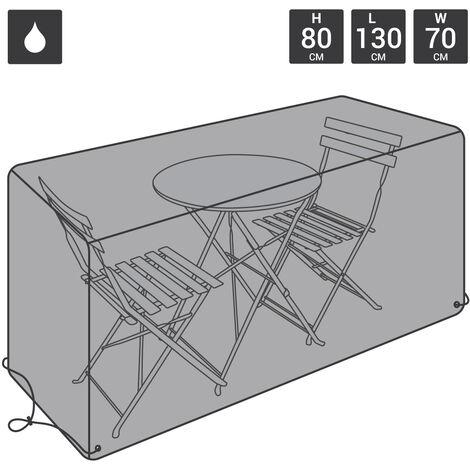 Charles Bentley Bistro Set Waterproof Outdoor Garden Furniture Cover - Black