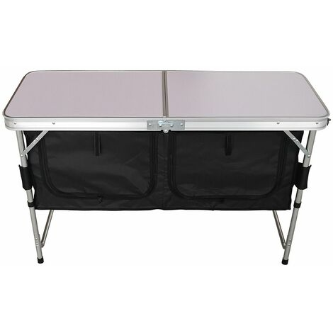 Charles Bentley Camping Table with Under Cupboard Storage