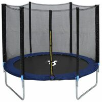 Charles Bentley Children's Monster 8ft Trampoline with Safety Net Enclosure