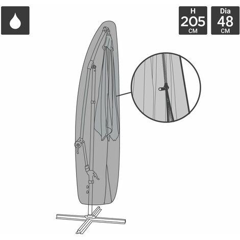 Charles Bentley Deluxe Banana Umbrella Parasol Cover -Black 600D PVC Waterproof - Black