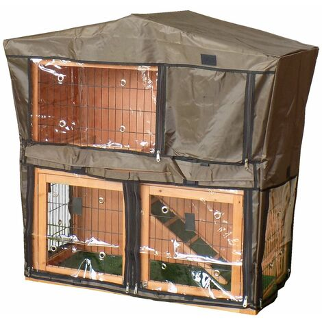 Charles Bentley Deluxe Guinea Pig Pet Hutch and Play Area Cover PET/HUTCH.03 - Black