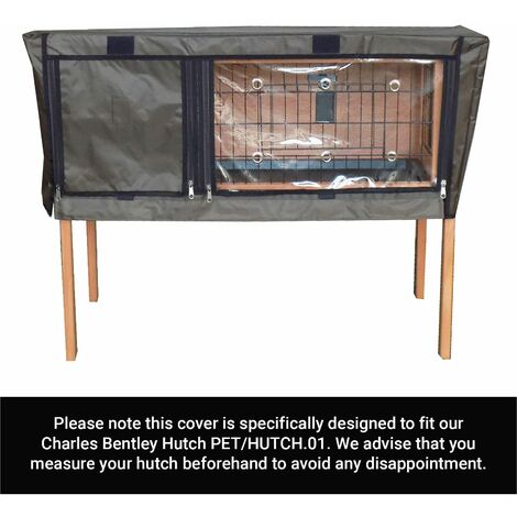 Charles Bentley Deluxe Guinea Pig Pet Hutch Cover PET/HUTCH.01 - Black