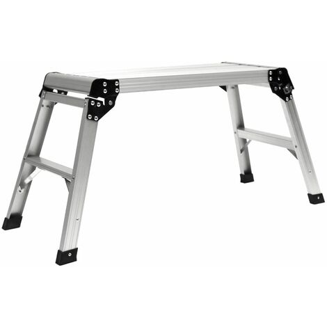 Charles Bentley En131 Foldable Lightweight Work Platform Aluminium Ladder 150Kg