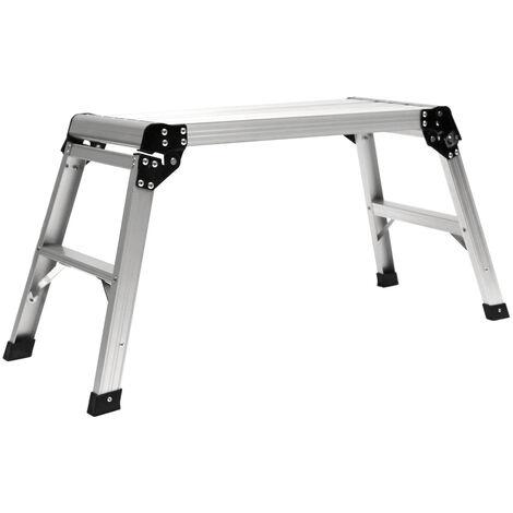 Charles Bentley EN131 Folding Lightweight Work Platform Aluminium Ladder 150kg