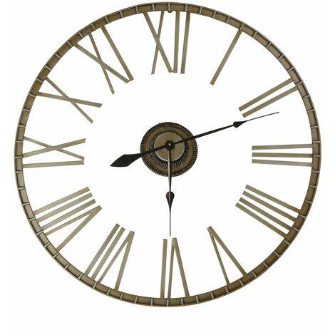 Charles Bentley Extra Large 95cm Outdoor Skeleton Wall Clock Bronze - Bronze