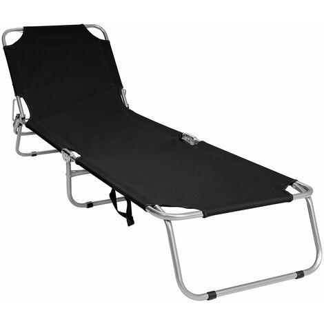 Charles Bentley Folding Camping Sun Lounger Sun Bed Recliner