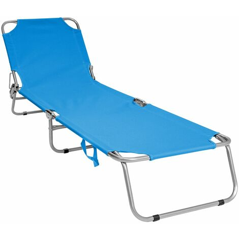 Charles Bentley Folding Camping Sun Lounger Sun Bed Recliner