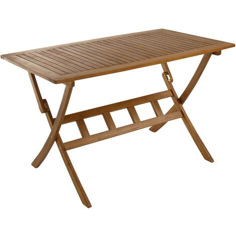 Charles Bentley FSC Acacia Hardwood Rectangular Folding Table - Brown