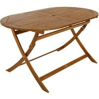 Charles Bentley FSC Acacia Wooden Furniture Oval Table