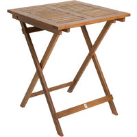 Charles Bentley FSC Eucalyptus Square Wooden Folding Side Table