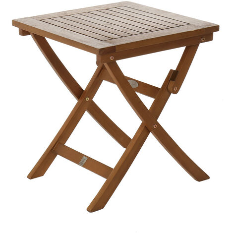 Charles Bentley FSC Eucalyptus Wooden Small Folding Side Table