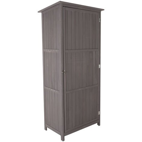 """main image of """"Charles Bentley FSC Wooden Storage Shed - Grey H190 x D56 x W86cm Tall Outdoor - Grey"""""""