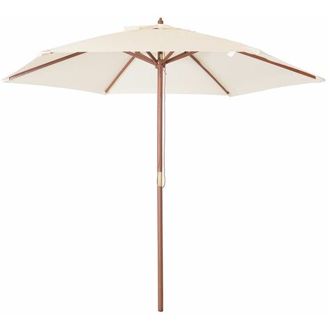 Charles Bentley Garden Lg. 2.4M Wooden Garden Patio Parasol Shade Umbrella 38mm