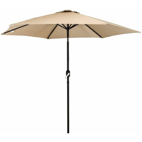 Charles Bentley Garden Metal Patio Umbrella Parasol With Crank & Tilt - Colours