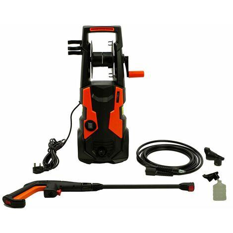 Charles Bentley Garden Pressure Washer 1900W Spray Gun 100 Bar Working Pressure - Orange, Black