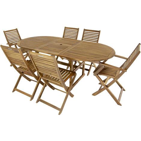 Charles Bentley Gartenmobel Set Ovaler Tisch 6 Stuhle
