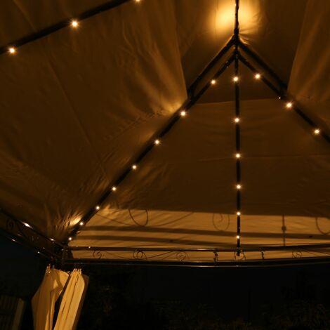 Charles Bentley Gazebo LED Lights 3m x 4m - Black