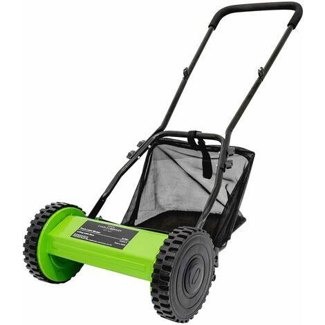 Charles Bentley Hand Push Lawn Mower 30cm Cutting Width Grass Collection Bag