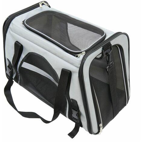 Charles Bentley Haustier Hund Katze Travel Car Bag Carrier- Grau