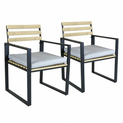 Charles Bentley Industrial Polywood and Extrusion Aluminium Pair of Chairs