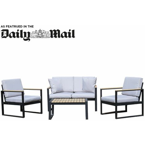 Charles Bentley Industrial Style Polywood and Extrusion Aluminium Lounge Set