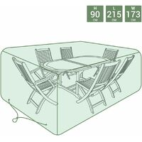 Charles Bentley Large Tarpaulin Garden Furniture Set Cover - Green