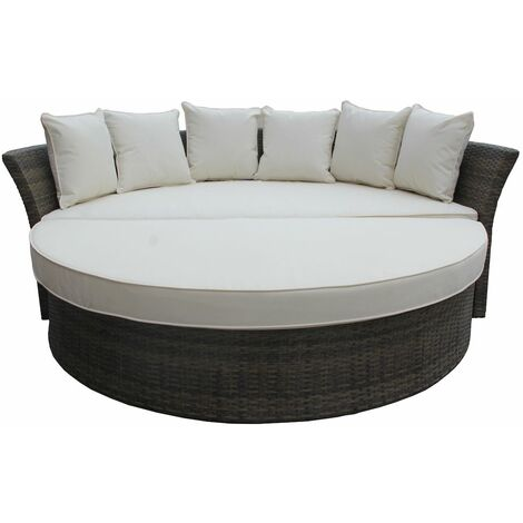 Charles Bentley Multi-Functional Rattan Day Bed - Natural