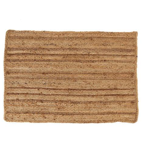 Charles Bentley Natural Jute Rug 100x150cm Hallway Runner Mat Carpet - Natural