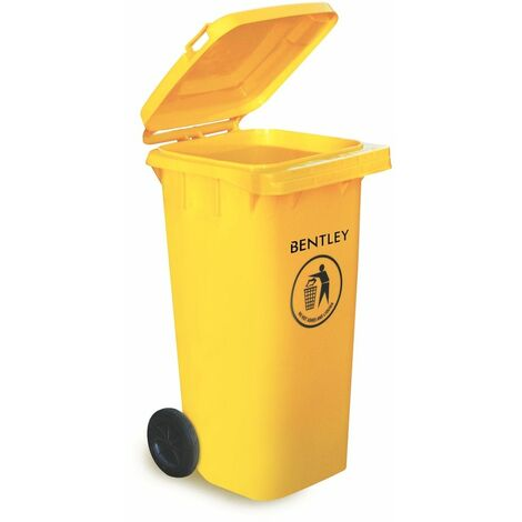 Charles Bentley Outdoor Household Waste Medium Rubbish 120 Litre Wheelie Bin