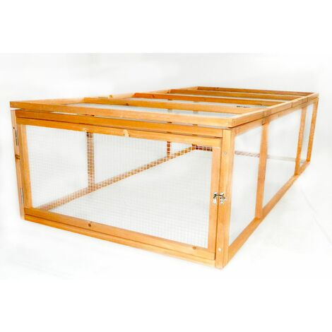 Charles Bentley Outdoor Rabbit Guineas Pig Run Play Pen Enclosure Galvanised