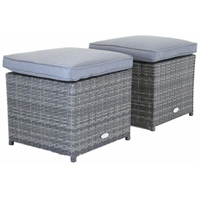 Grey Outdoor Rattan Garden Storage Box Grey Furniture Cover Cushion Storage 140cm*70cm*80cm