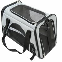 Charles Bentley Pet Dog Cat Travel Car Bag Carrier- Grey
