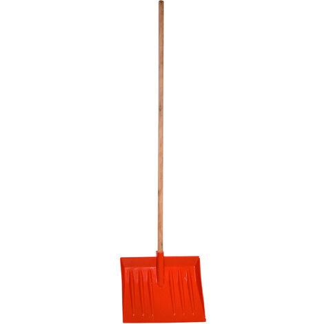 Charles Bentley Plastic Lightweight Red Snow Shovel Scoop