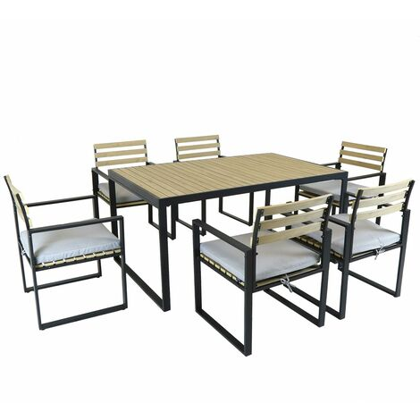 Charles Bentley Polywood and Extrusion Corner Sofa Aluminium Dining Set