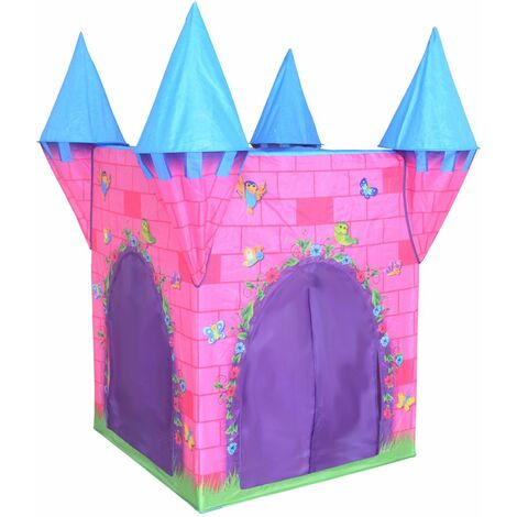 Charles Bentley Pop Up Castle Play Tent Girls Boys Indoor Outdoor Xmas Gift